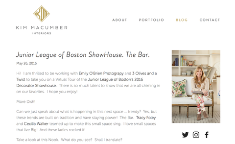 Our Butler's Bar Space on the Blogosphere