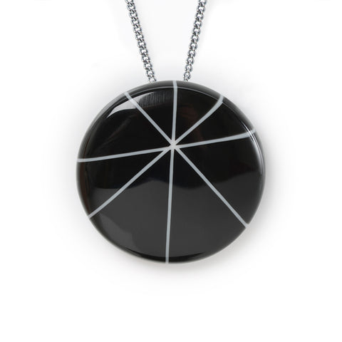 Black resin modernist pendant