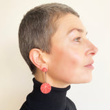 Pink Zazou Drop Earrings / SALE