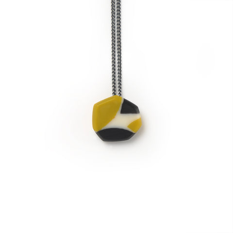 modern faceted resin pendant handmade in Brighton Uk