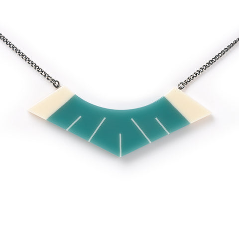 Luxor Necklace in Teal