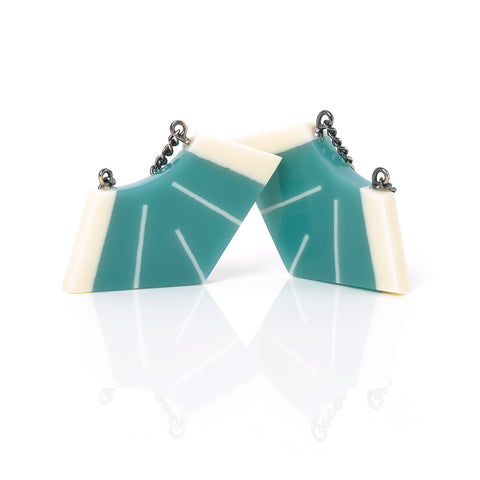 Art Deco resin drop earrings