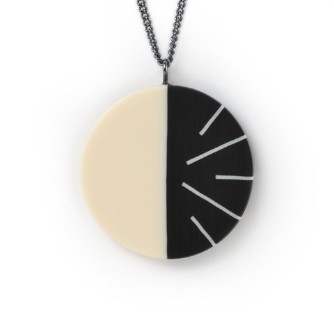 Black and white geometric resin jewelry
