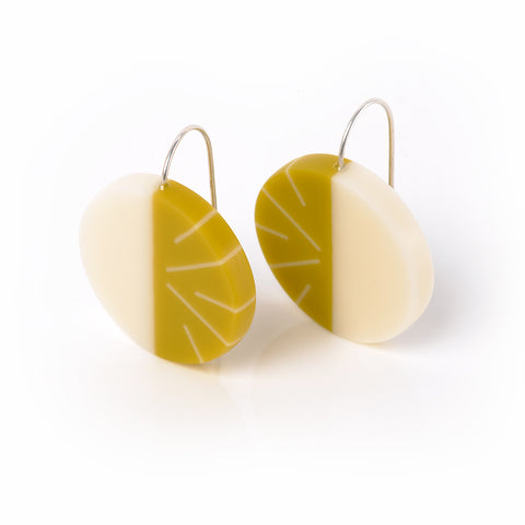 Short Wire Lunula drop earrings