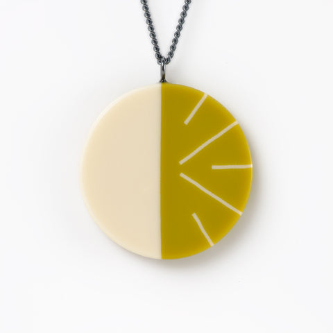 Lime green minimalist necklace