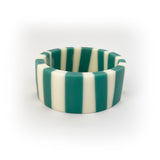 Candy stripe teal resin bangle