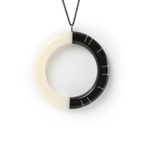 Minimalist resin necklace