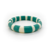 Teal blue resin slim bracelet