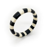 Black and white resin bracelet
