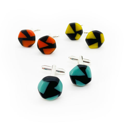 Faceted Cuff Links