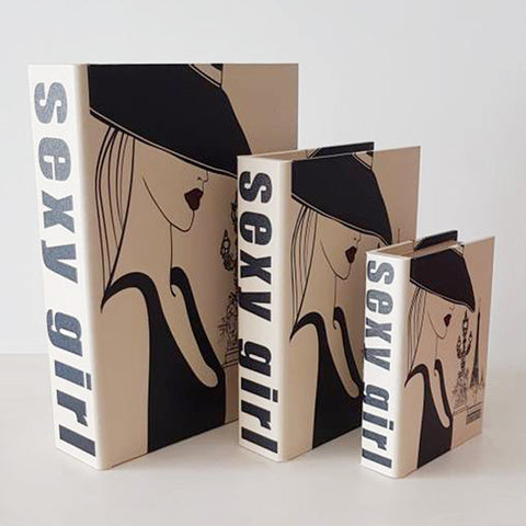 Sexy Girl Book Box - Set of 3