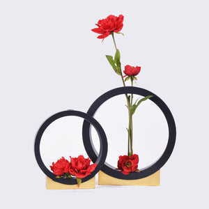 Black Zero Vase - Set of 2 - The Chic Pad