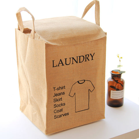Square Jute Laundry Bag