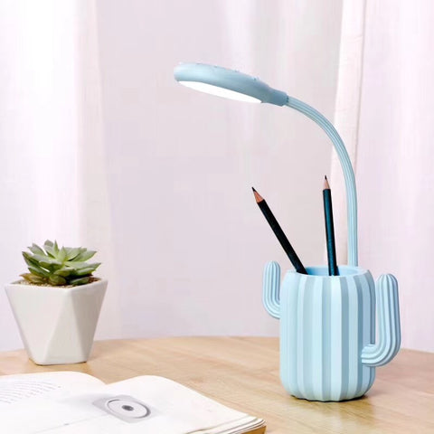 Dimmable Cactus Pen Holder Table Lamp