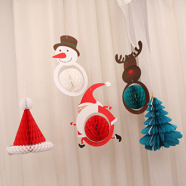 Christmas Honeycomb Paper Decor