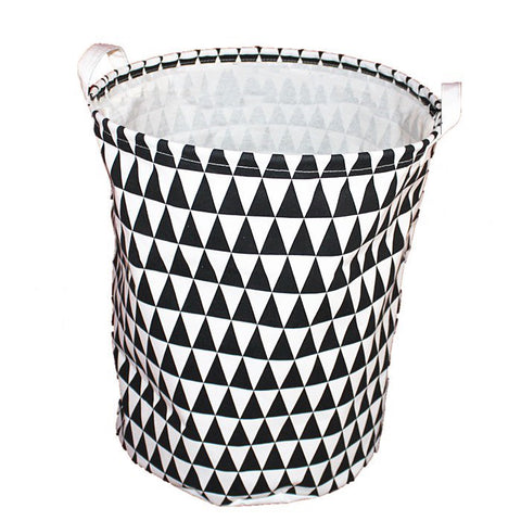 Monochrome Triangles Laundry Bin