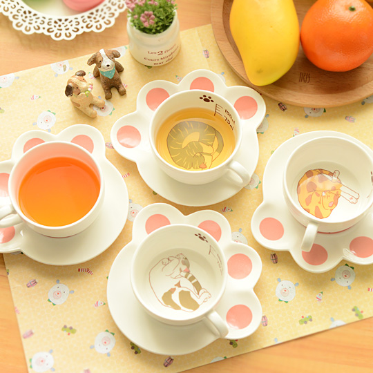 Cat Cup & Paw Saucer - The Chic Pad - 3