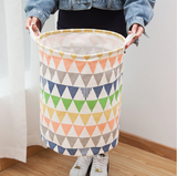 Colorful Triangles Laundry Bin