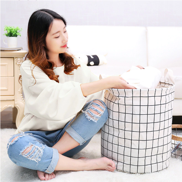 Windowpane Laundry Bin