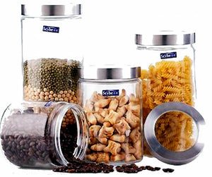 Twist To Open Glass Canister - Set of 4 - The Chic Pad