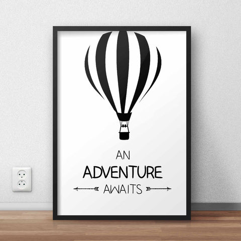 Adventure Awaits Framed Quote - The Chic Pad