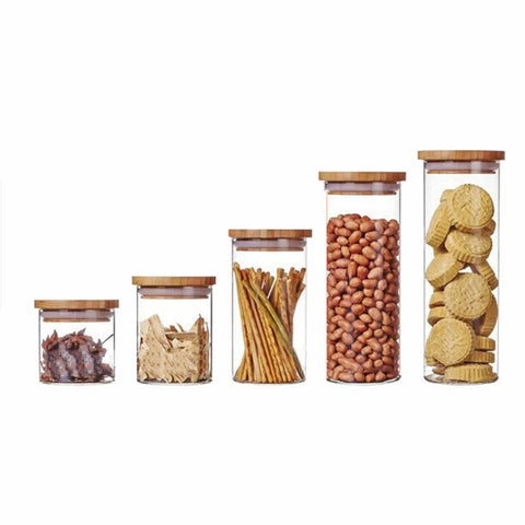 Airtight Glass Canister - Set of 5 - The Chic Pad