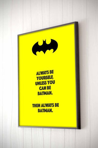Batman Framed Quote