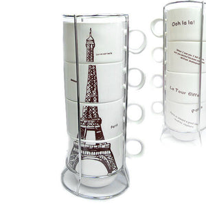 Eiffel Tower 4 in 1 Cup Set - The Chic Pad - 1