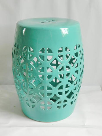 Lattice Garden Stool - The Chic Pad - 1