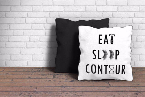 Eat Sleep Contour Cushion Cover - The Chic Pad