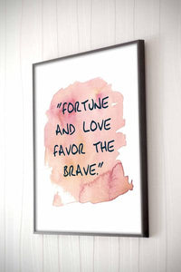 Fortune & Love Framed Quote