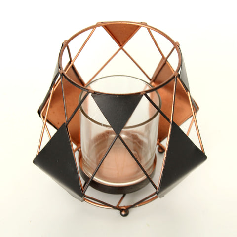 Geometric Prism Candle Holder