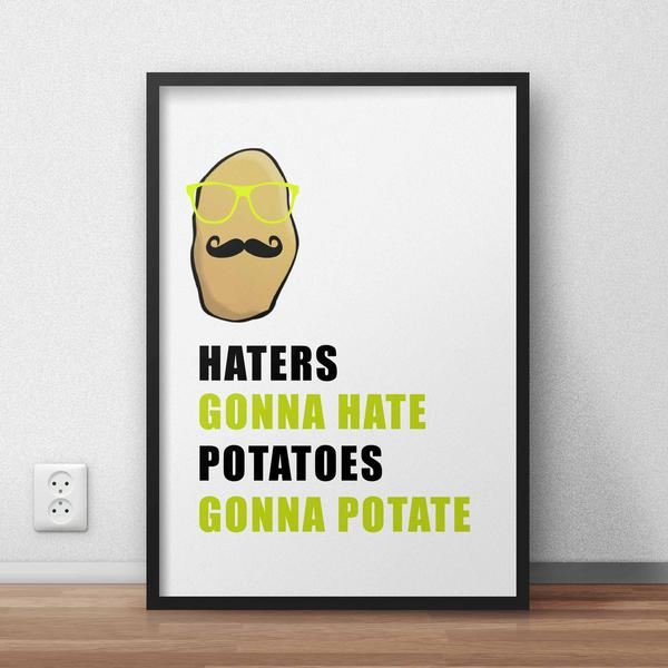 Haters Gonna Hate Framed Quote