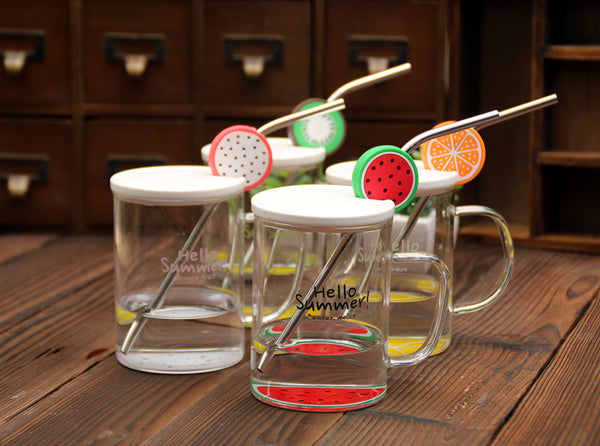 Hello Summer Transparent Glass Mug