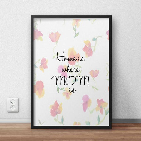 Home Is Where Mom Is Framed Quote
