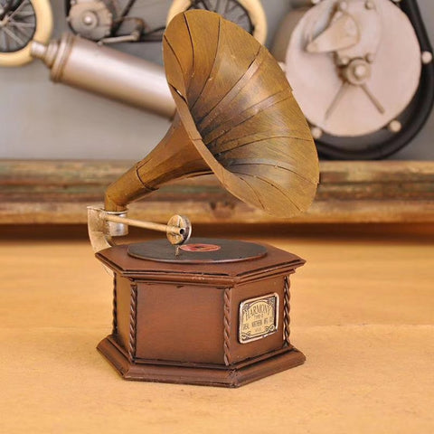 Antique Gramophone Piggy Bank