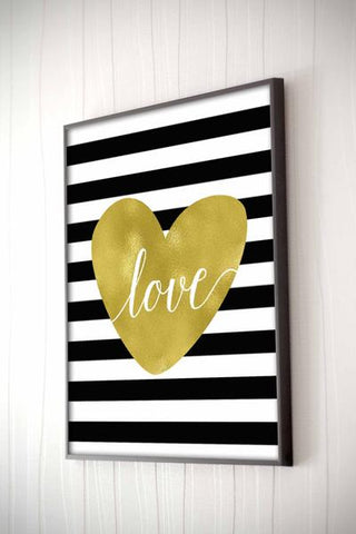 Love In Stripes Framed Quote