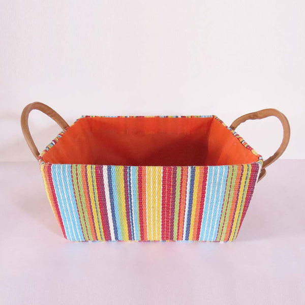 Multi Colour Stripes Storage Basket - Set of 2 - The Chic Pad - 4