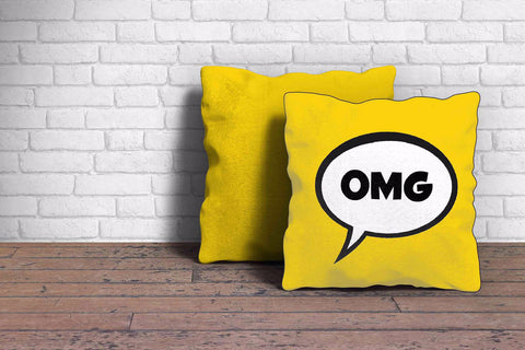 Comic Speech Bubble Cushion Cover - The Chic Pad - 1
