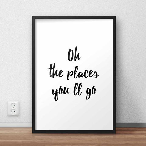 The Places You'll Go Framed Quote