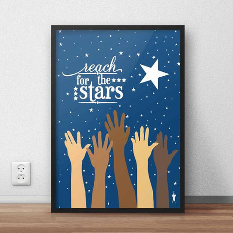 Reach For The Stars Framed Quote