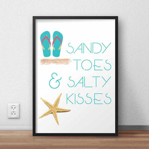 Sandy Toes Framed Quote