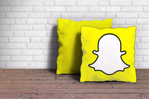 Snapchat Cushion Cover - The Chic Pad