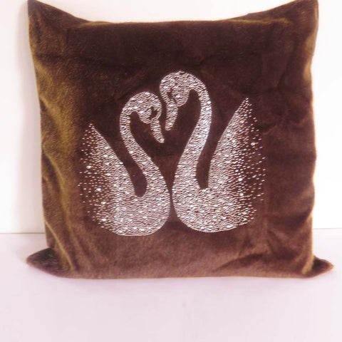 Twin Swan Sequin Cushion Cover - The Chic Pad