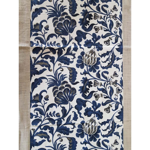 Blue & White Floral Table Runner - The Chic Pad - 1