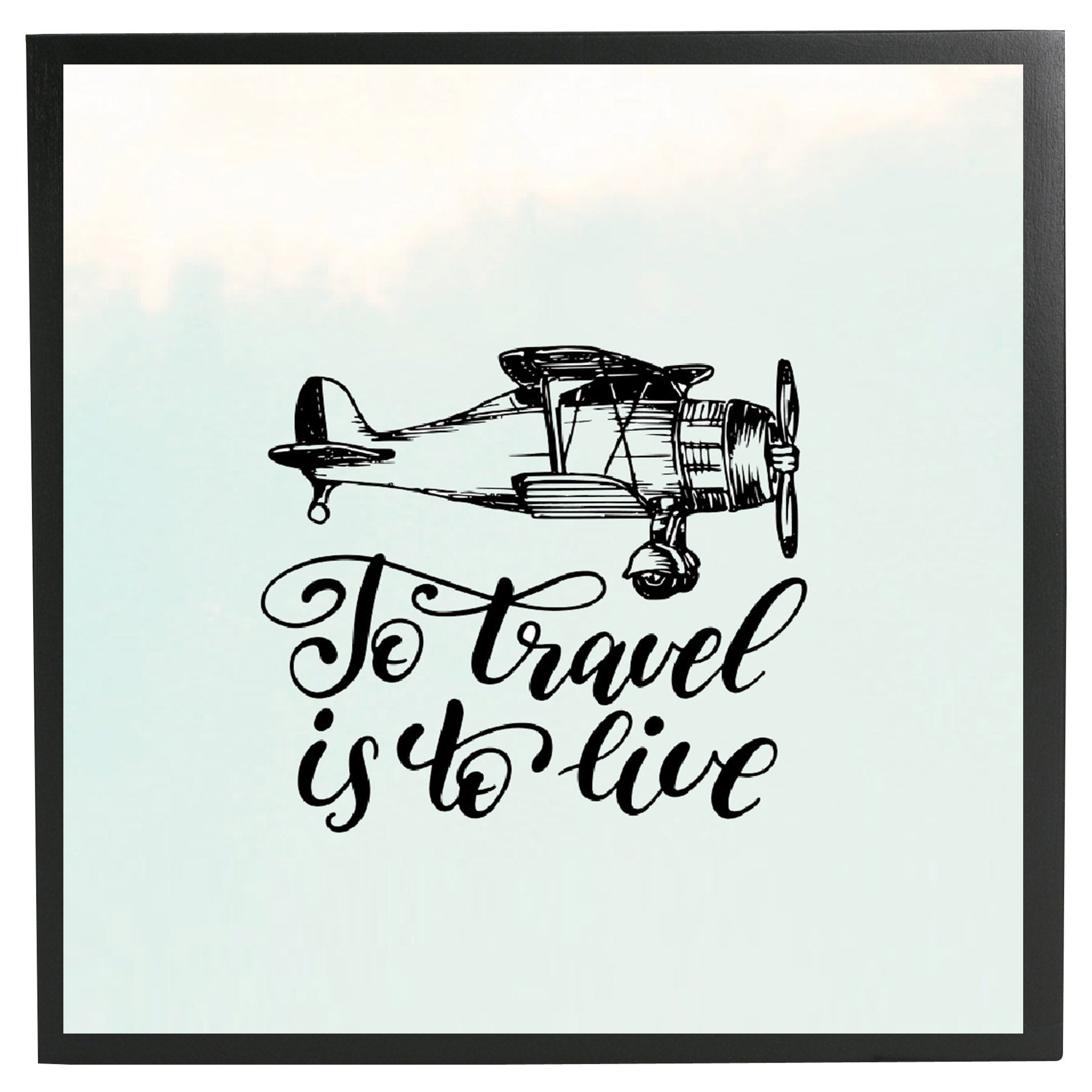 Travel Is Life Framed Quote
