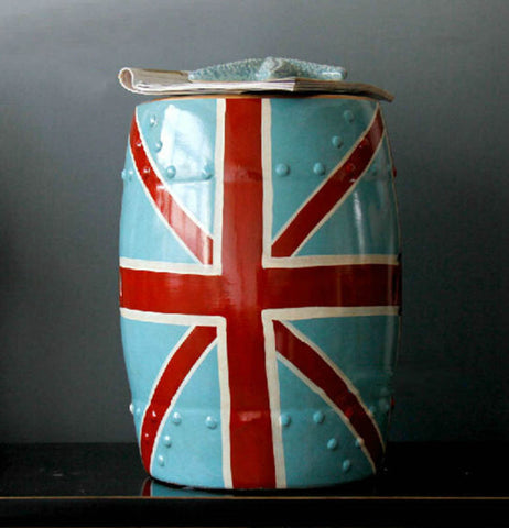 Union Jack Ceramic Stool - The Chic Pad