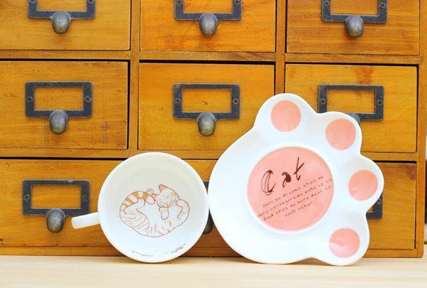 Cat Cup & Paw Saucer - The Chic Pad - 5