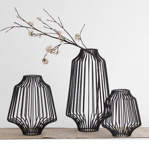 Black Wire Vase - The Chic Pad - 1