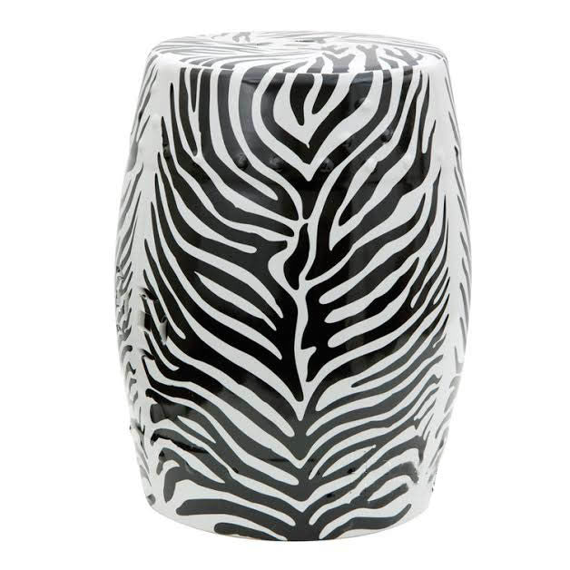 Zebra Garden Stool - The Chic Pad